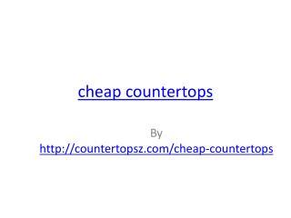 cheap countertops