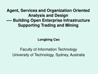 Faculty of Information Technology  University of Technology, Sydney, Australia