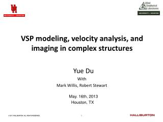 VSP modeling, velocity analysis, and imaging in complex structures
