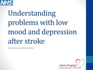 Understanding problems with low mood and depression after stroke