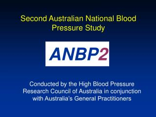 Second Australian National Blood Pressure Study