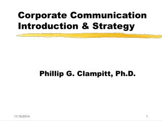 Corporate Communication Introduction & Strategy