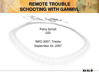 REMOTE TROUBLE SCHOOTING WITH GANMVL