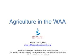 Agriculture in the WAA