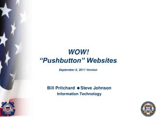"WOW! ""Pushbutton"" Websites September 6, 2011 Version"