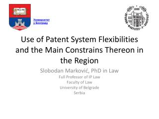 Use of Patent System Flexibilities and the Main Constrains Thereon in the Region