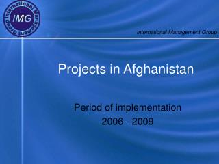 Projects in Afghanistan