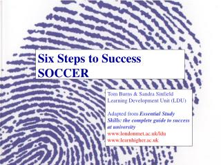 Six Steps to Success SOCCER