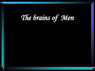 The brains of  Men