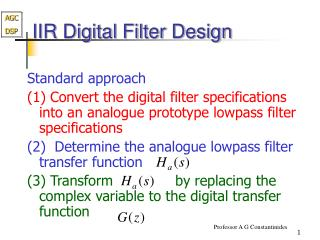 IIR Digital Filter Design