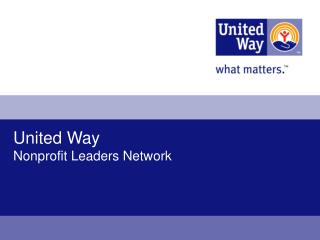 United Way Nonprofit Leaders Network