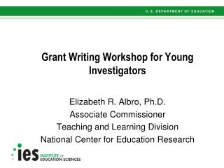 Grant Writing Workshop for Young Investigators