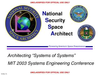 "Architecting ""Systems of Systems"" MIT 2003 Systems Engineering Conference"