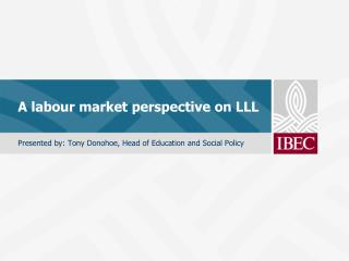 A labour market perspective on LLL