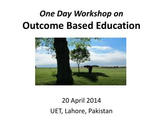 One Day Workshop on  Outcome Based Education