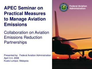 APEC Seminar on Practical Measures to Manage Aviation Emissions