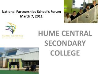 National Partnerships School's Forum March 7, 2011
