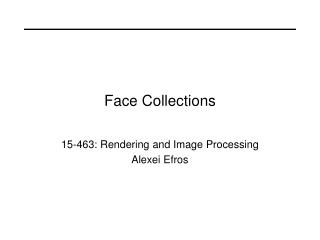 Face Collections