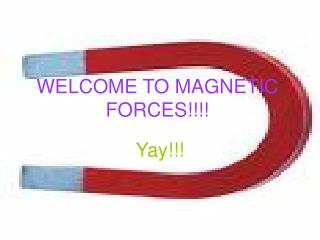 WELCOME TO MAGNETIC FORCES!!!!