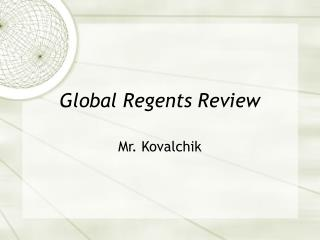 Global Regents Review