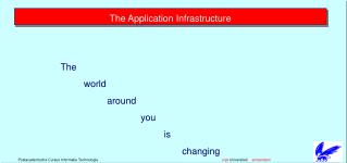 The Application Infrastructure