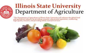 Illinois State University  Department of Agriculture