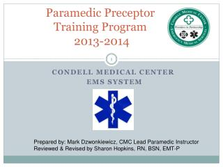 Paramedic Preceptor  Training Program  2013-2014