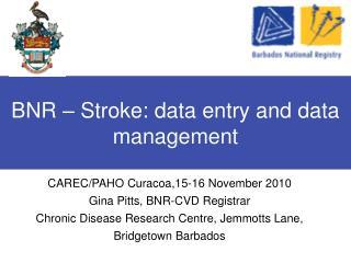 BNR – Stroke: data entry and data management
