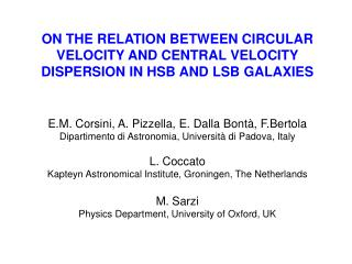 ON THE RELATION BETWEEN CIRCULAR VELOCITY AND CENTRAL VELOCITY DISPERSION IN HSB AND LSB GALAXIES