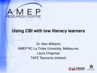 Using CBI with low literacy learners