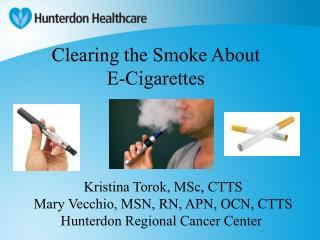 Clearing the Smoke About E-Cigarettes