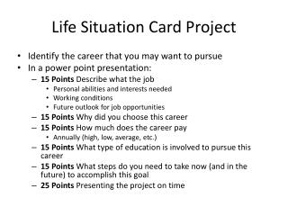 Life Situation  Card Project