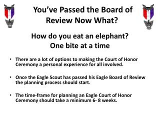You've Passed the Board of Review Now What?