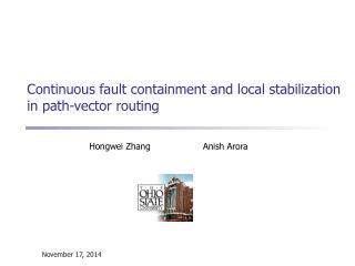 Continuous fault containment and local stabilization in path-vector routing