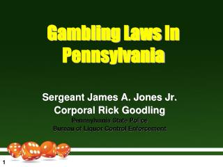 Gambling Laws  In Pennsylvania