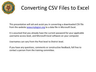Converting CSV Files to Excel