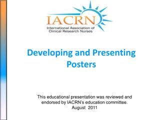 Developing and Presenting Posters