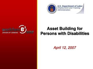 Asset Building for Persons with Disabilities