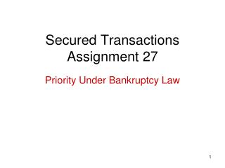 Secured Transactions Assignment 27