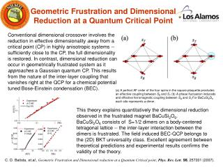 Geometric Frustration and Dimensional Reduction at a Quantum Critical Point