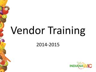 Vendor Training