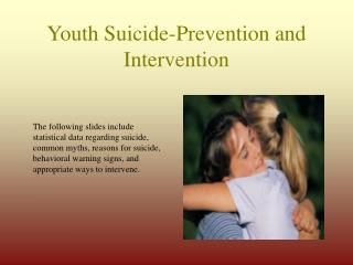 Youth Suicide-Prevention and Intervention