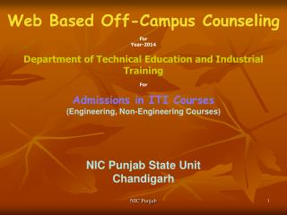 Web Based Off-Campus Counseling For Year-2014