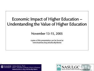Economic Impact of Higher Education – Understanding the Value of Higher Education