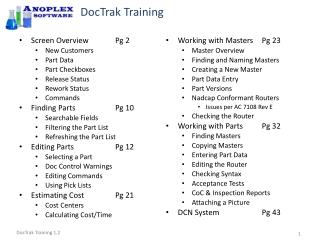 DocTrak Training