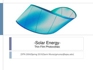 -Solar Energy-  Thin Film Photovoltaic
