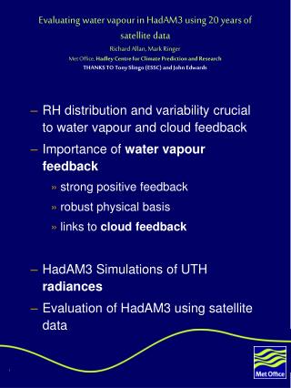 RH distribution and variability crucial to water vapour and cloud feedback