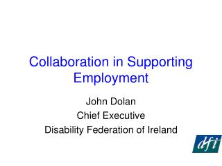 Collaboration in Supporting Employment