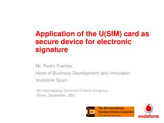 Application of the U(SIM) card as secure device for electronic signature
