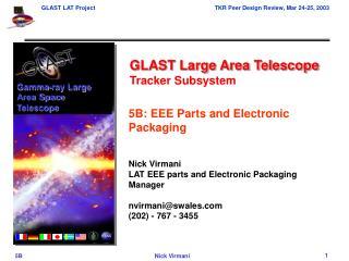GLAST Large Area Telescope Tracker Subsystem